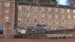 Tour of New Lanark World Heritage Site, South Lanarkshire, Scotland, UK