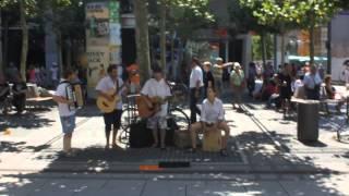 Уличные музыканты. Цайль. Франкфурт. Гессен.