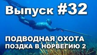 Выпуск 32: Подводная охота видео 2013. Моя поездка в Норвегию часть 2
