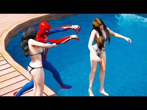 GTA 5 Water Ragdolls | Crazy SPIDERMAN Jumps/Fails #12 (Euphoria Physics | Funny Moments | Ragdoll)