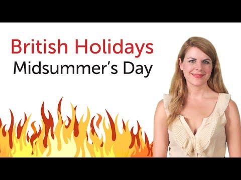 British English Holidays - Midsummer's Day