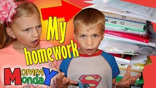 MY TEACHER GAVE ME 500 PAGES OF HOMEWORK || Mommy Monday thumbnail
