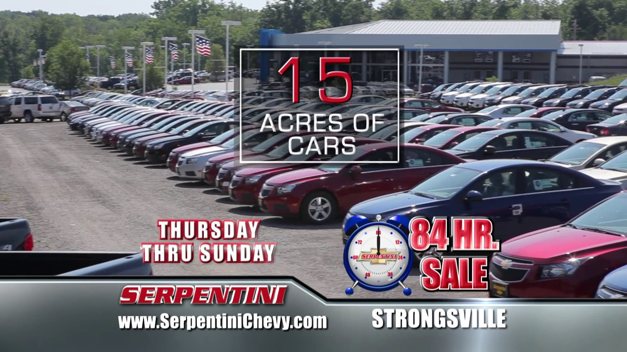 84 Hour Sale Serpentini Chevrolet Strongsville Youtube