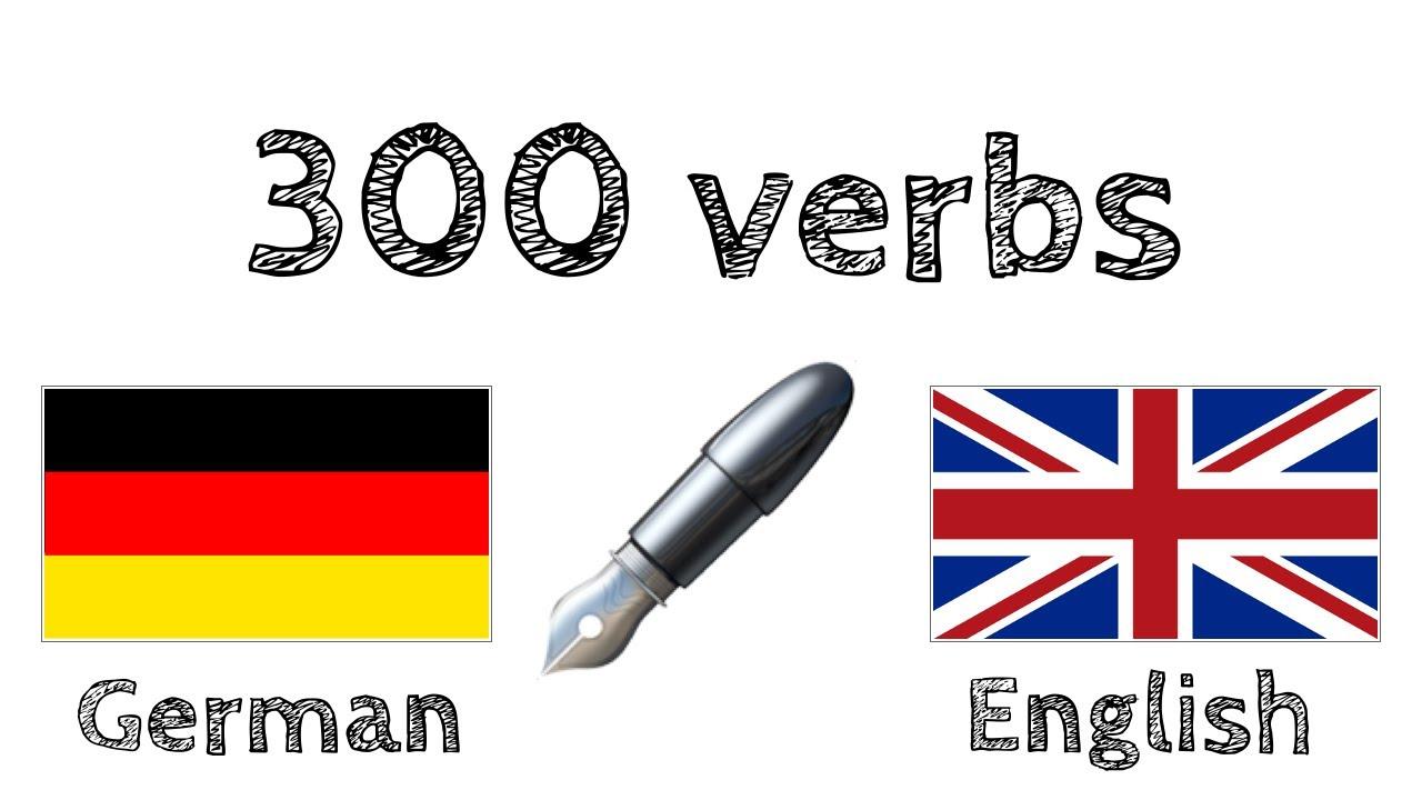 20 verbs   German + English   Reading and listening   native speaker