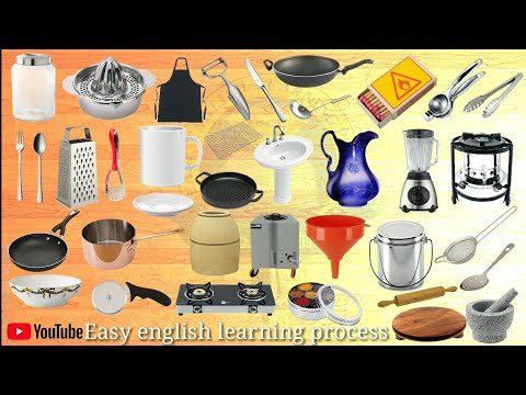 The Name Of Kitchen Accessories || Kitchen || Easy English Learning Process