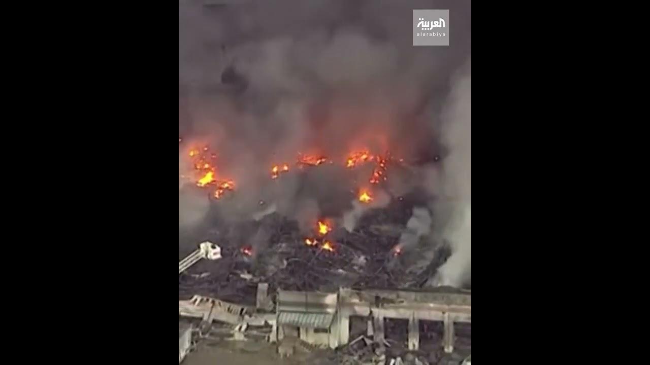 صور جديدة للحريق الضخم في ولاية إلينوي الأميركية  - نشر قبل 4 ساعة
