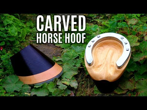 Carved Wooden Horse Hoof