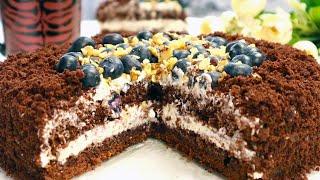 Шоколадный Торт Без Весов Не нуждается в пропитке Сочный Нежный Тает во рту Быстрый Простой
