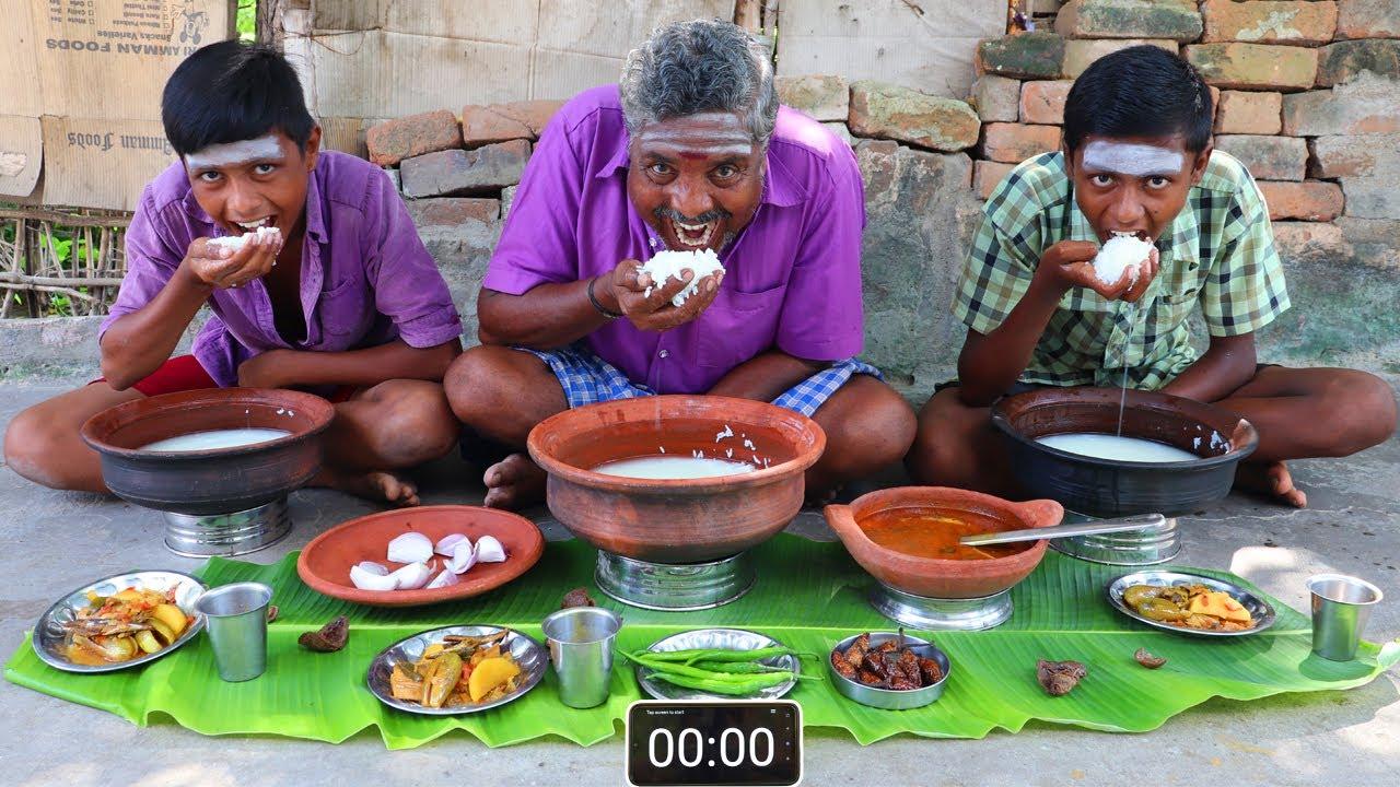Download ICE BIRYANI EATING CHALLENGE | PALAYA SORU KARUVATTU KULAMBU CHALLENGE | HEALTHY BREAKFAST EATING