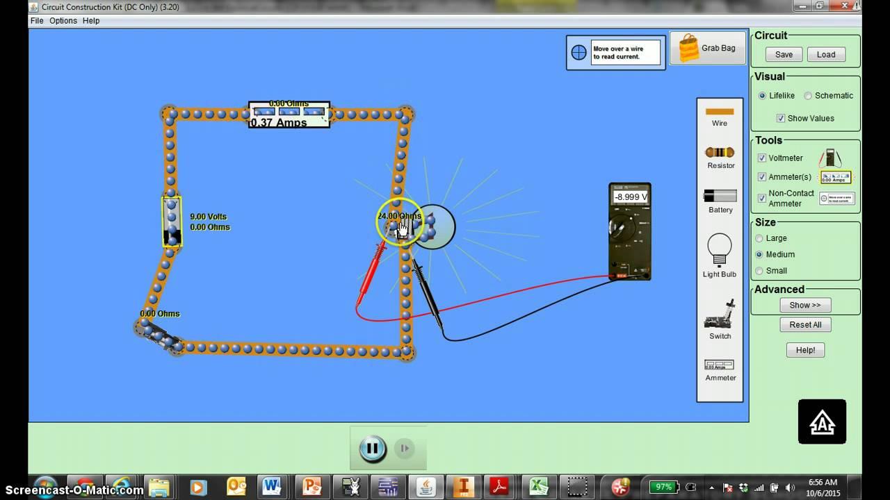Basic Circuit And Simulation Partsim Tutorial Youtube