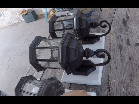 How to install an exterior light fixture base plate youtube - Exterior light fixture mounting plate ...