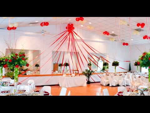 Wedding stage decoration with balloons youtube wedding stage decoration with balloons junglespirit Images