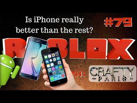 Is iPhone really better than Samsung? ROBLOX Gameplay | Live Stream #79 | Crafty Paris | 😜😜😜