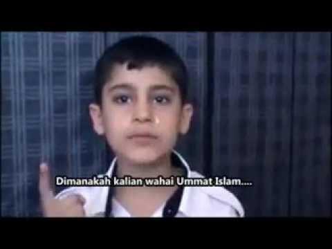 Tangisan anak palestina...