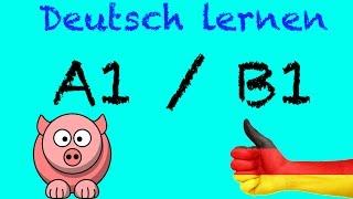 Deutsch Lernen A1 / B1 mit Videos für Anfänger | ich will Deutsch online kostenlos lernen