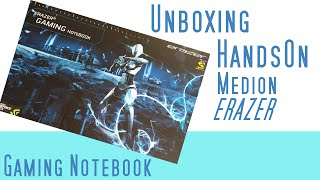 Erazer Gaming Notebook P7643 Unboxing & Hands on Medion  Erazer Notebook Deutsch