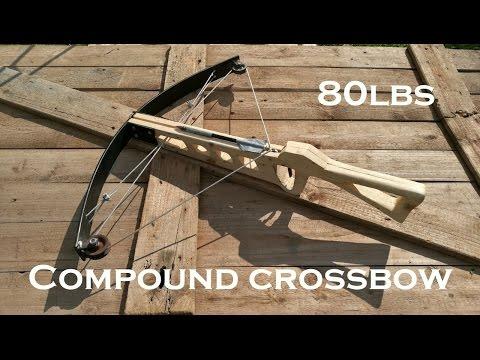 We built a 80lbs COMPOUND CROSSBOW! // JustRandomPfusch