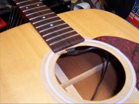 lr baggs m1a active pickup how to install the m1a on a guitar youtube. Black Bedroom Furniture Sets. Home Design Ideas