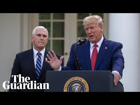 Coronavirus in the US: Trump delivers daily briefing with task force – watch live