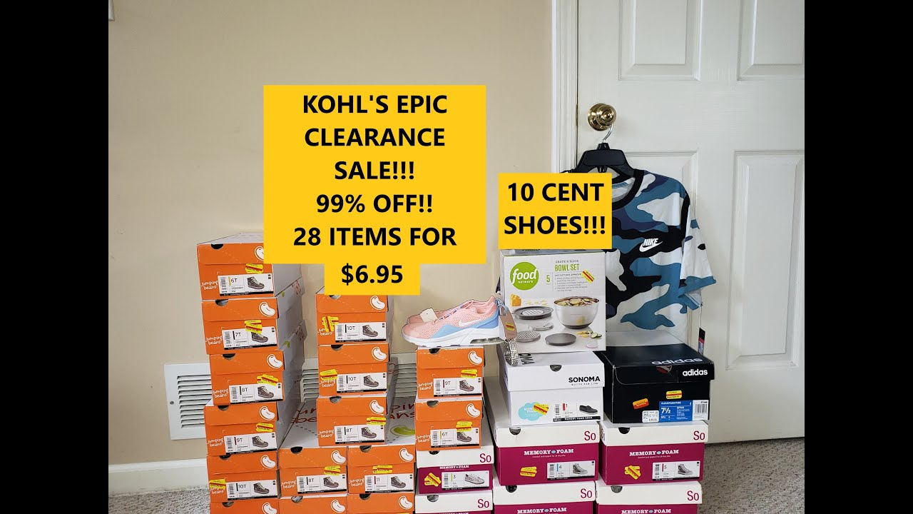 KOHL'S CLEARANCE HAUL!! MOST EPIC SALE EVER!!! 99% OFF!!! 10 CENT SHOES!!!