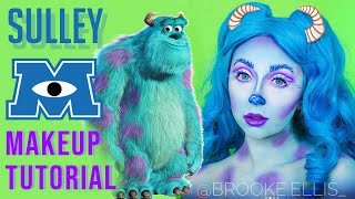 GLAM SULLEY MONSTERS INC MAKEUP 💙 | BEELUXURY ✨
