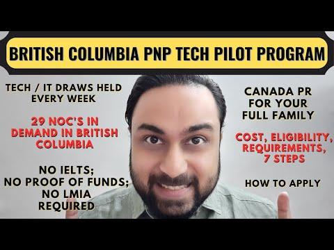 British Columbia PNP Tech Pilot Program 2020 | BC PNP Tech Pilot Program