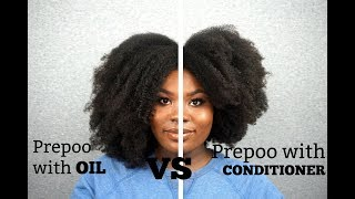 BUBS BEE HAIR COMPARISONS (THICK/LONG 4C) | PREPOO WITH OIL VS CONDITIONER