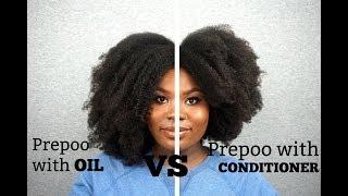 PREPOO WITH OIL VS CONDITIONER | HAIR COMPARISON | Bubs Bee