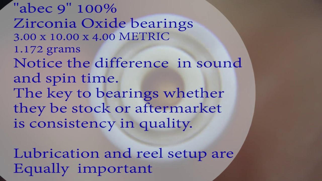 Brief Ball Bearing Comparison 100 Abec 9 Full Ceramic Boca Abec 7 Orange Seals Standard Stainles Youtube