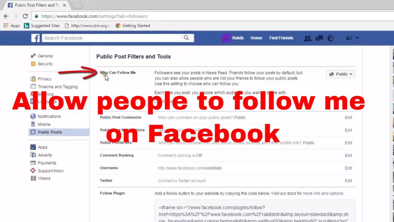Allow People to Follow Me, Comment Public Post, Public ...
