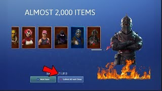ALMOST 2,000 ITEMS Fortnite Battle Royale Account Merge