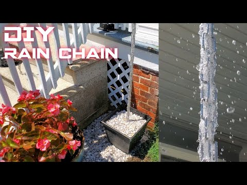DIY Rain Chain Downspout
