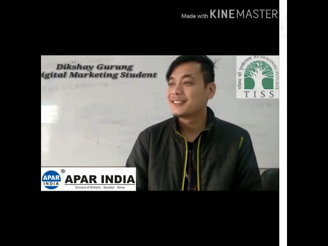 Dikshay Gurung student of Digital Marketing @ TATA Institute of Social Sciences