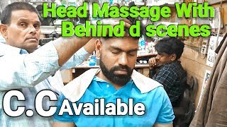 Asmr head massage and neck Cracking with behind the scenes.