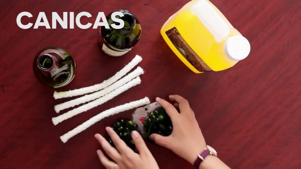 Como hacer una antorcha casera con citronela y botellas de for Antorchas para jardin caseras