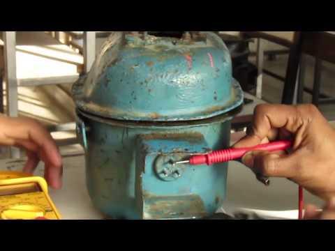 Testing of compressor motor in Hindi कंप्रेसर मोटर टेस्टिंग
