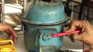 testing of compressor motor in hindi क प र सर म टर ट स ट ग