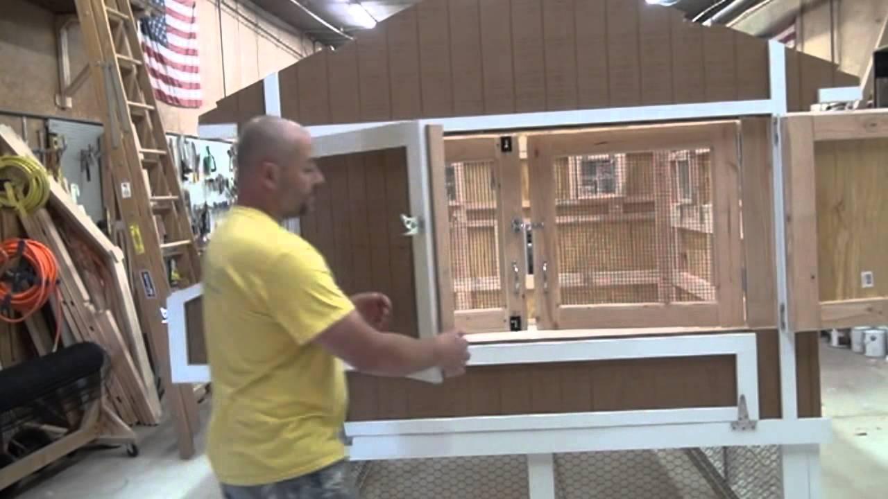 custom screen doors for hen house chicken coop  YouTube