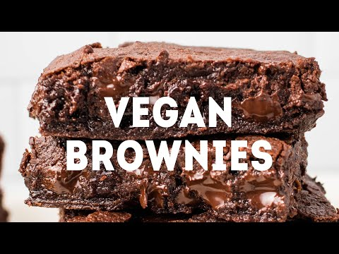 The Ultimate Fudgy Vegan Brownies!