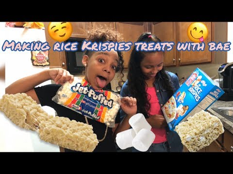 Making Rice Krispies Treats With Bae