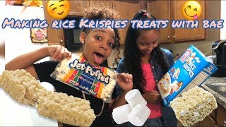 Making Rice Krispies Treats With Bae