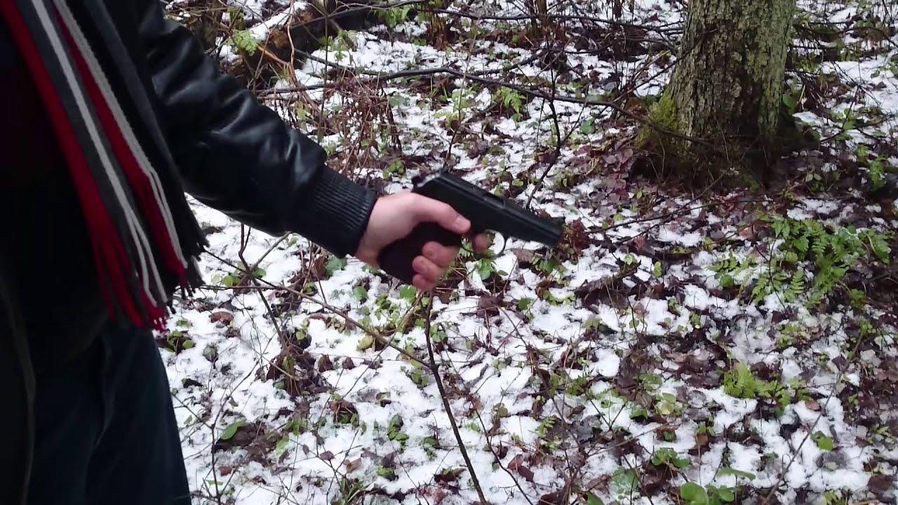 Пистолет Макарова ПМ СХП Охолощенный - YouTube
