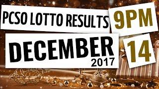 Lotto Results Dec 14, 2017, 9PM ft. Ez2, Swertres, 6D, 6-42 & 6-49