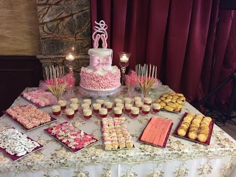 Dessert Table For A Baby Shower Youtube