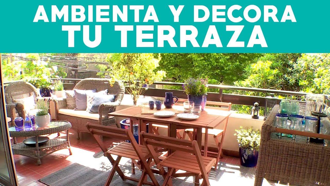 C mo ambientar y decorar una terraza de departamento for Como decorar un antejardin pequeno