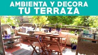 ¿Cómo ambientar y decorar una terraza de departamento?