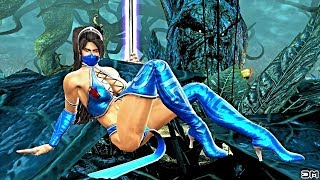 Kitana (Costume 1) Performs All Character Intros & Victory Celebrations on Living Forest (MKIX) PC