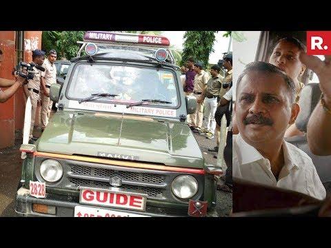 Lt Col Purohit Leaves Taloja Jail