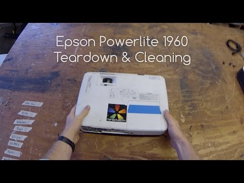 Epson 1960 Powerlite Projector Dust Cleaning