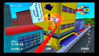 The Simpsons Skateboarding PS2 Playthrough Part 1